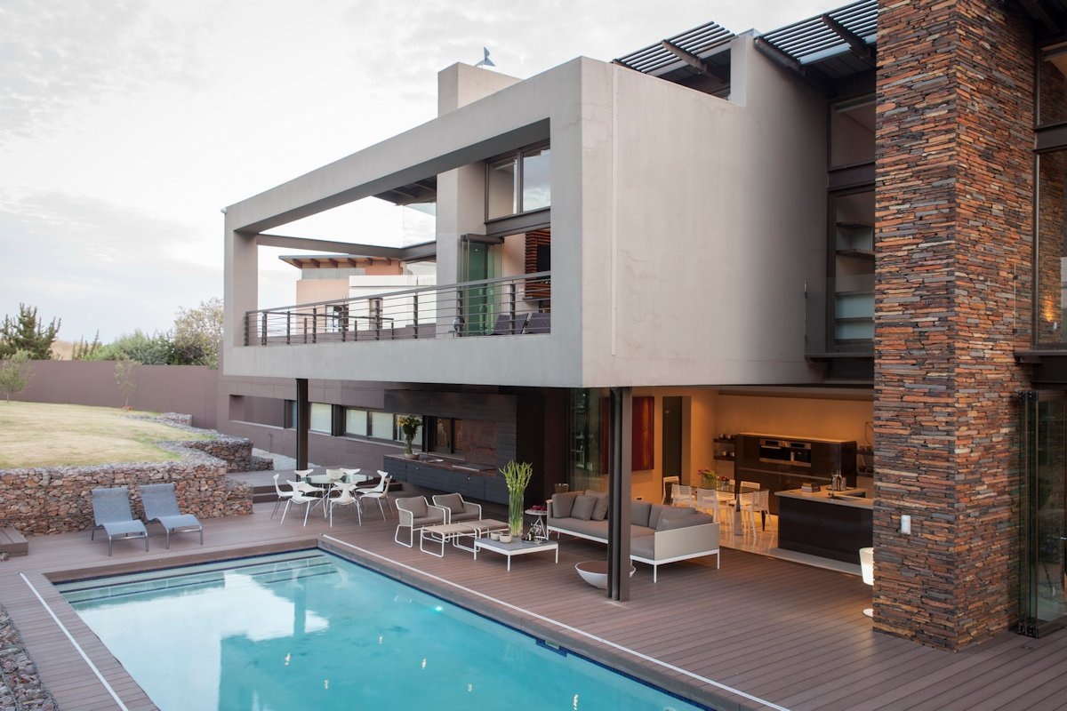 Pool, Terrace, Outdoor Furniture, House in Johannesburg