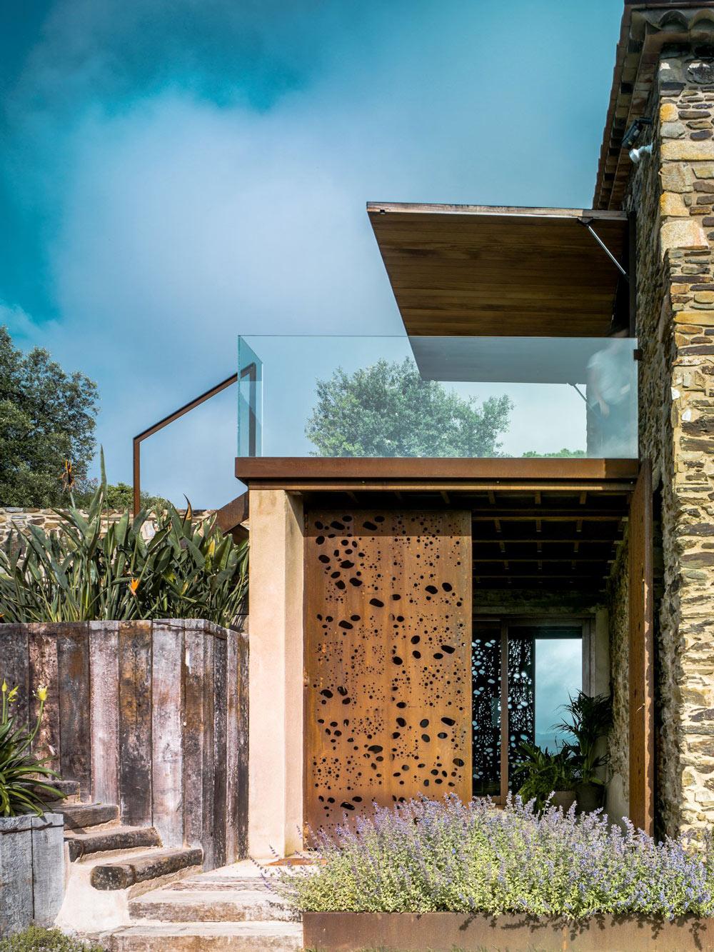 Rustic Metal Doors, Catalan Farmhouse, Girona, Spain