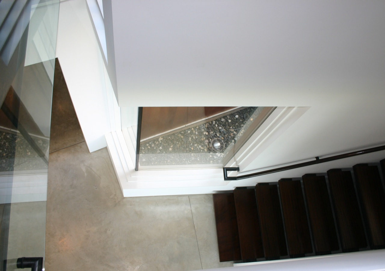Stairs, Window, Oceanfront Residence in Connecticut