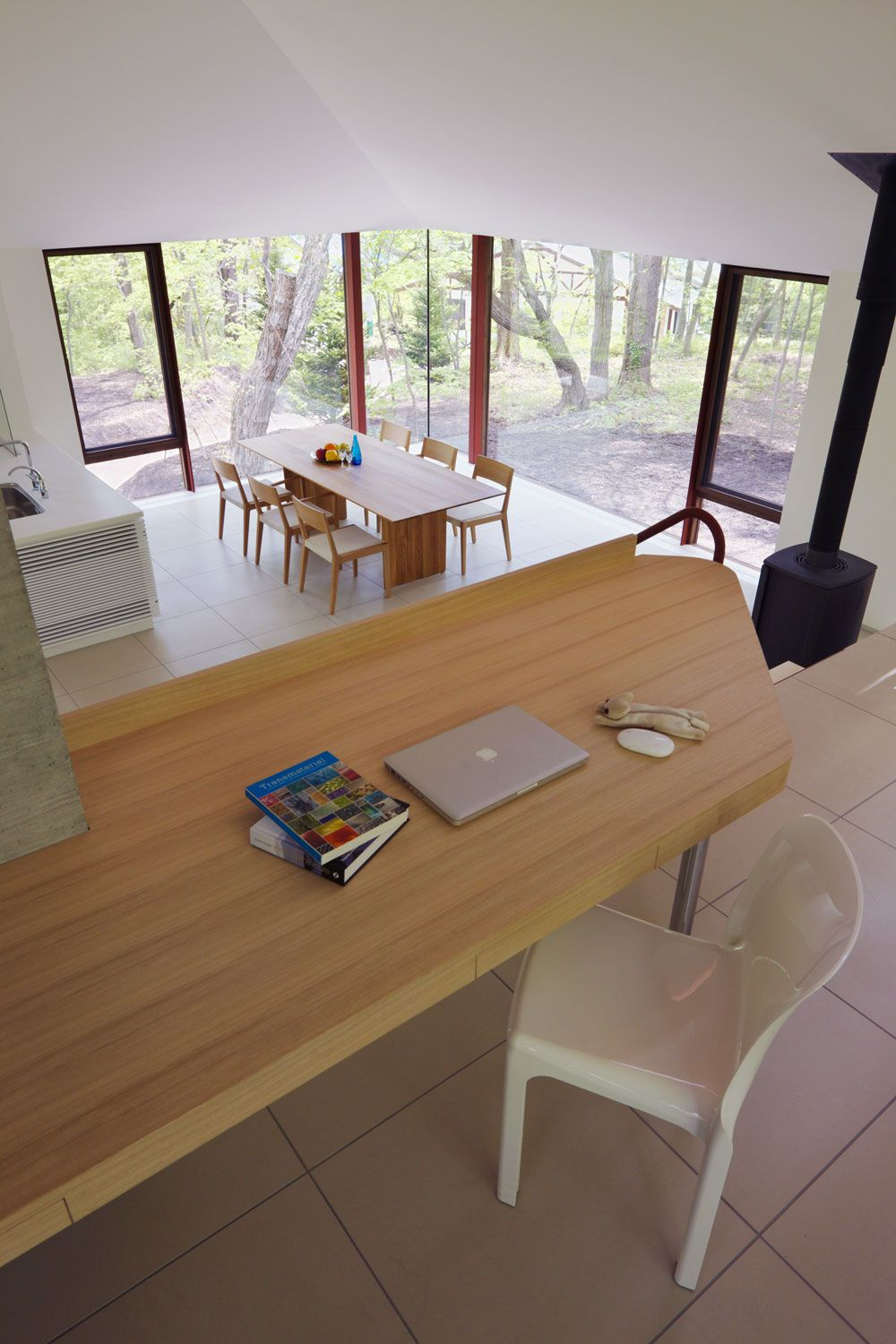 Table, Dining Area, Hilltop Home in Karuizawa, Japan