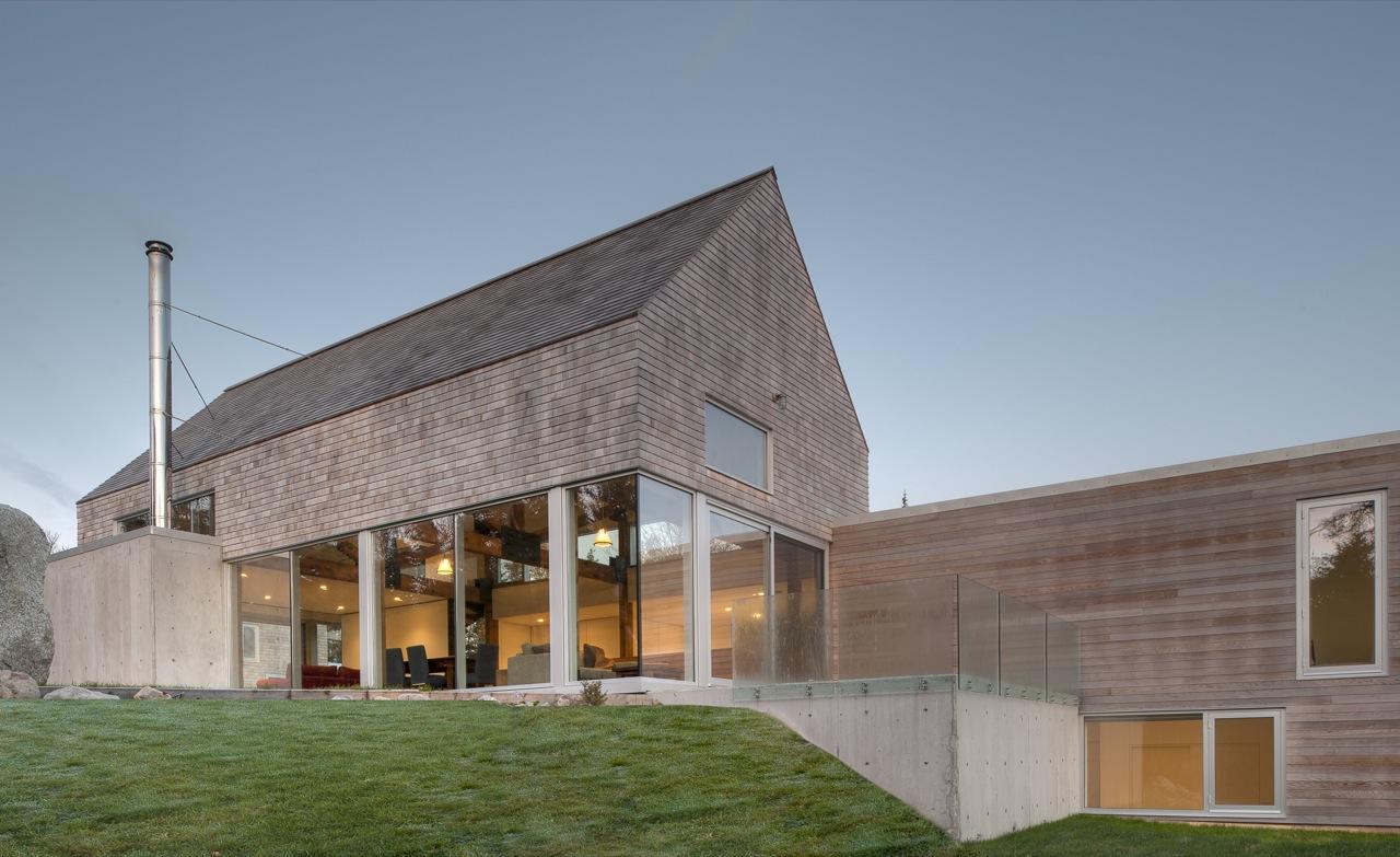 Terrace, Glass Balustrading, Glass Walls, House in Prospect, Nova Scotia