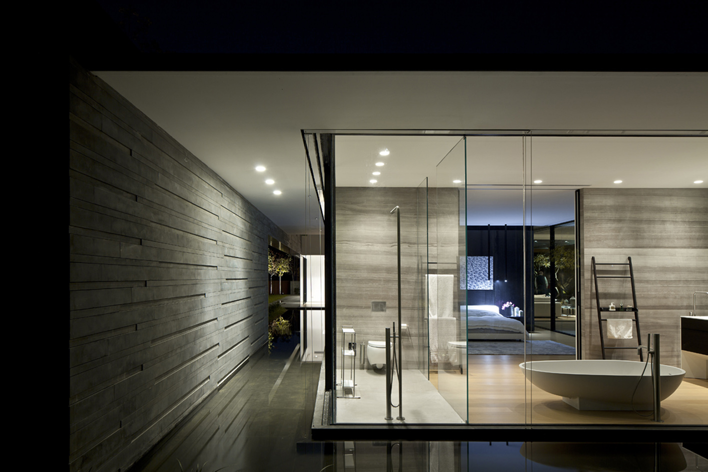Water Feature, Bathroom, Lighting, Float House in Tel Aviv, Israel