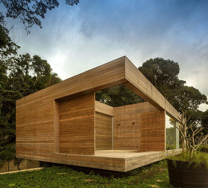 Wood Cladding, Home in Rio de Janeiro