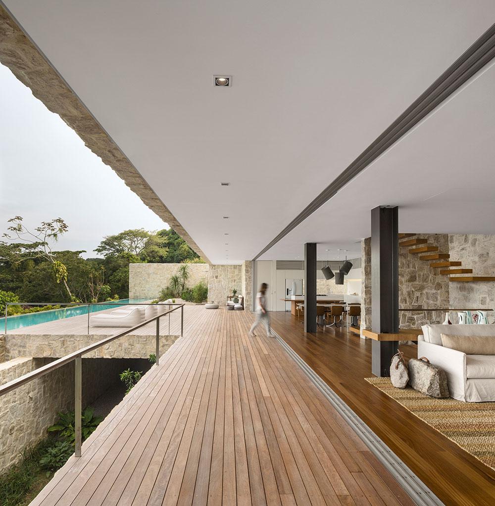 Wood Deck, Open Living Space, Home in Rio de Janeiro