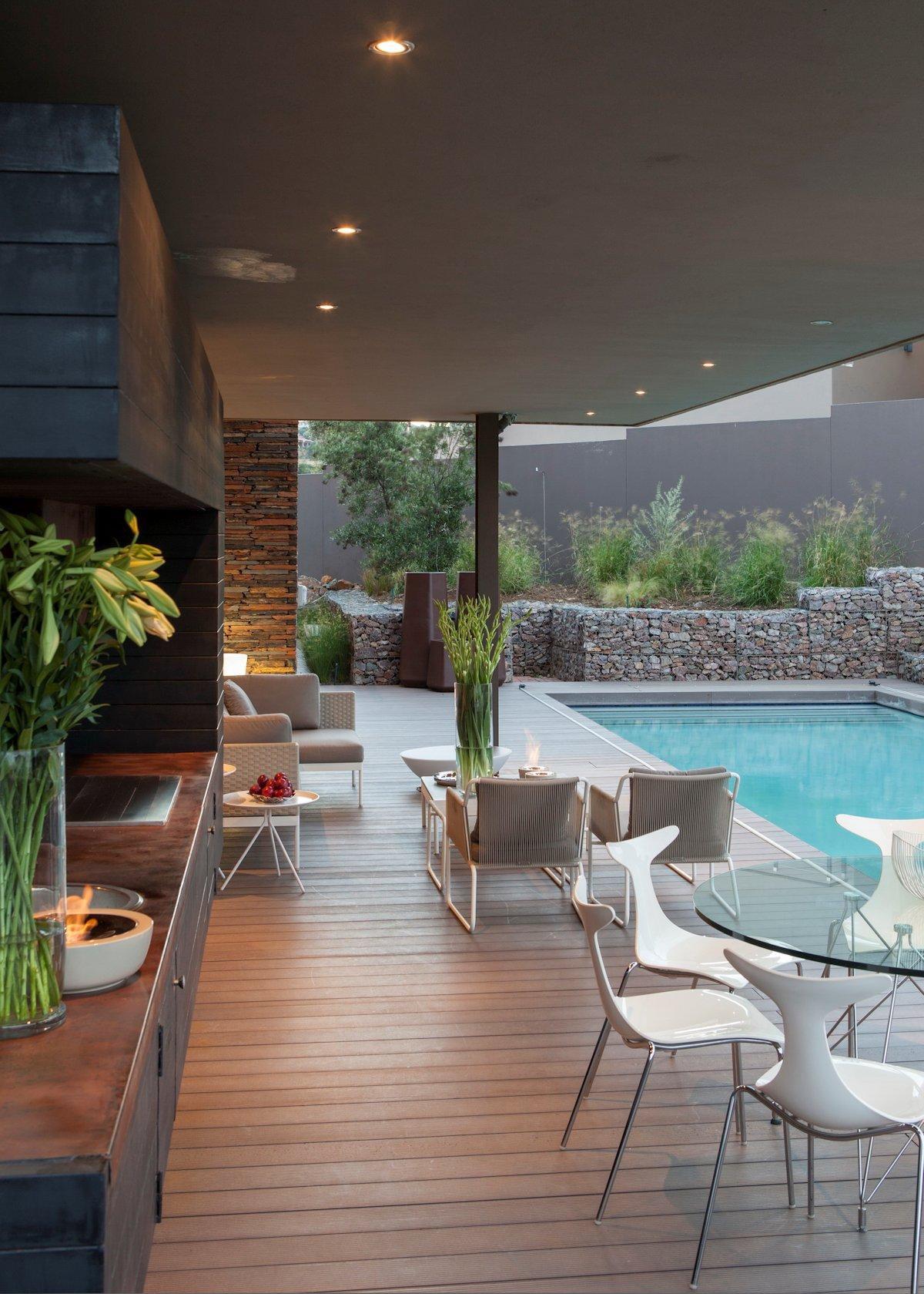 Wood Decking, Furniture, Pool, House in Johannesburg