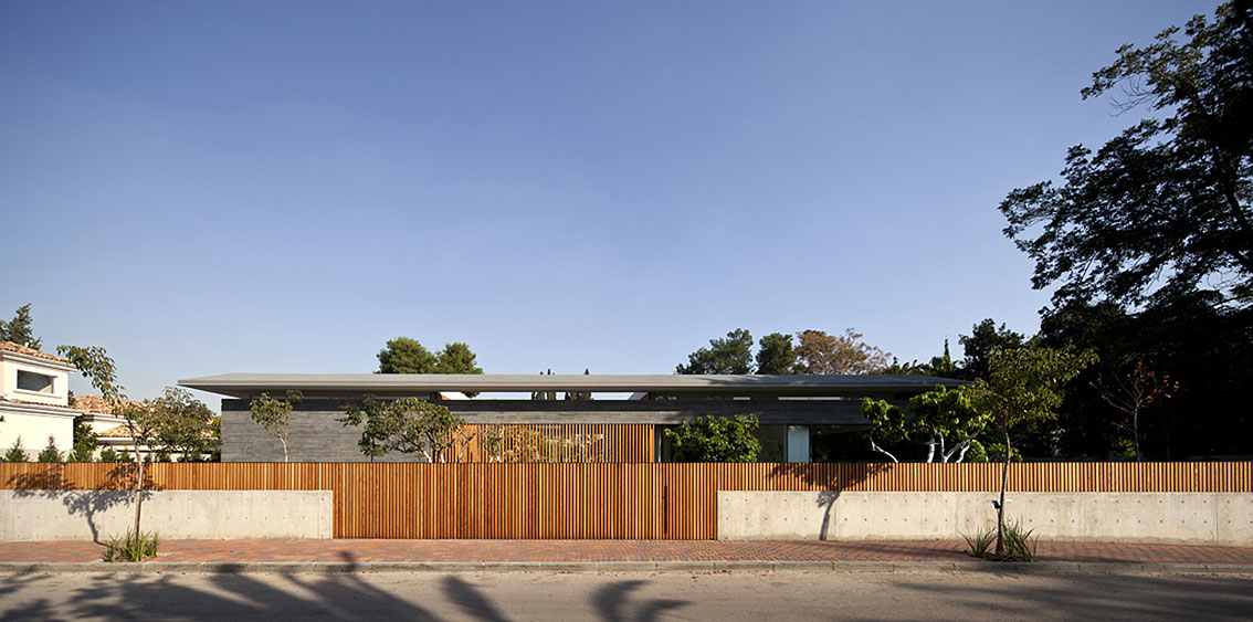Wooden Fence, Float House in Tel Aviv, Israel