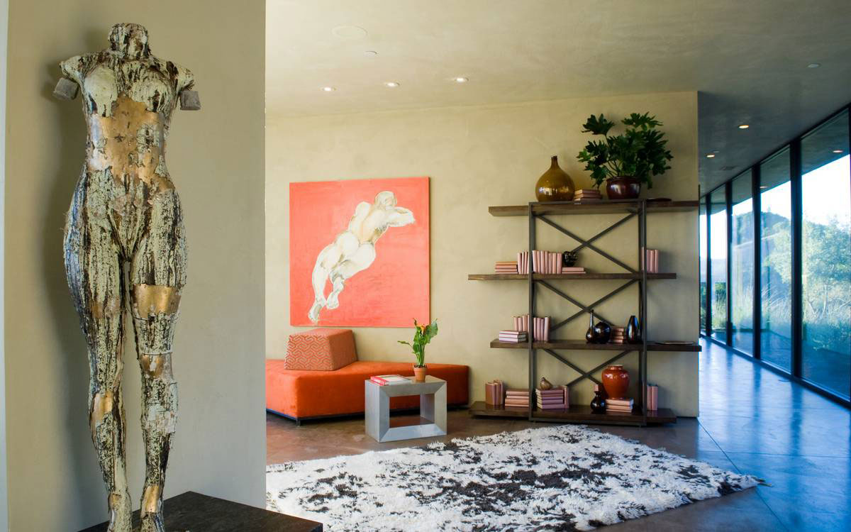 Art, Rug, Shelves, Home in the Sonoma Valley, California