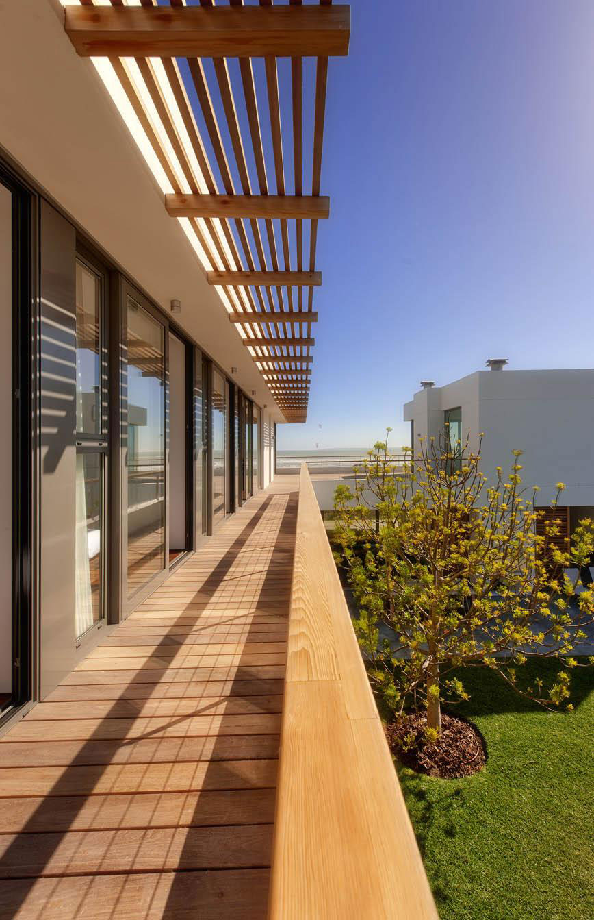 Balcony, Glass Sliding Doors, Beach Front Home in Cape Town, South Africa