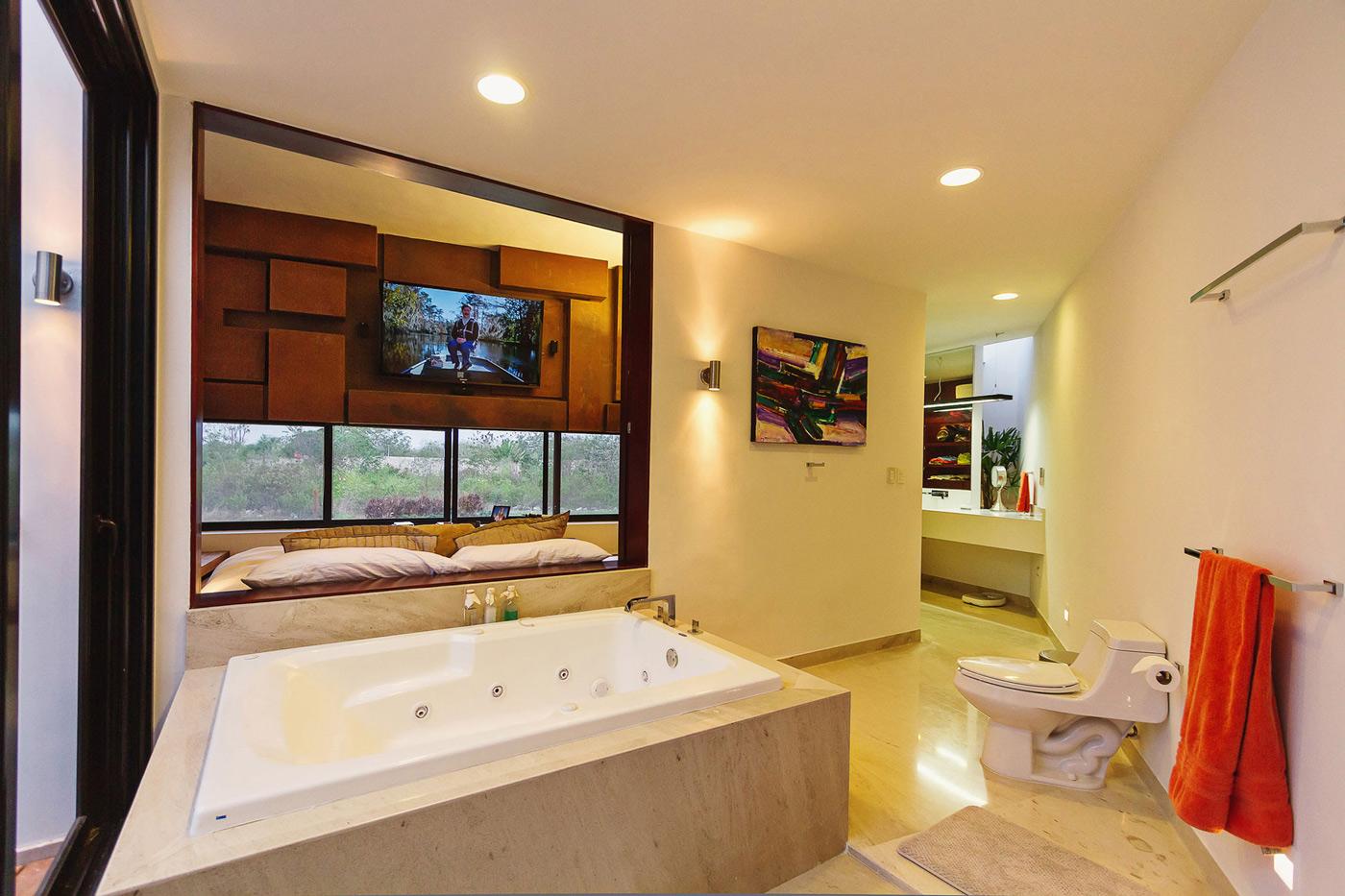 Bathroom, Contemporary Residence in Merida, Yucatan