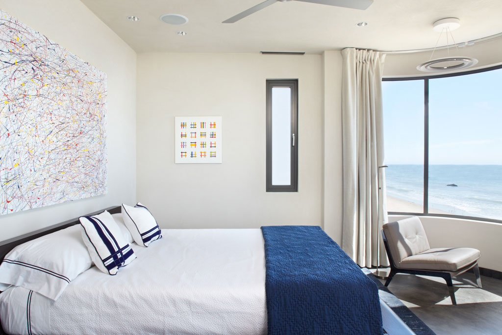 Bedroom, Art, Ocean Views, Eco-Friendly Beach House in California