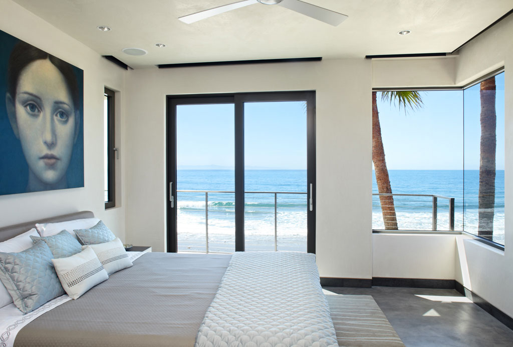 Bedroom, Large Windows, Patio Doors, Eco-Friendly Beach ...