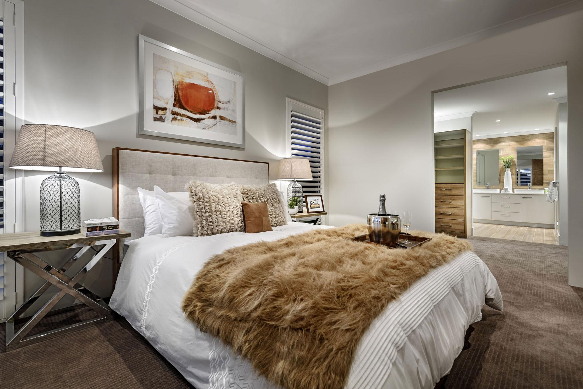 Bedroom, Modern Home in Wandi, Perth