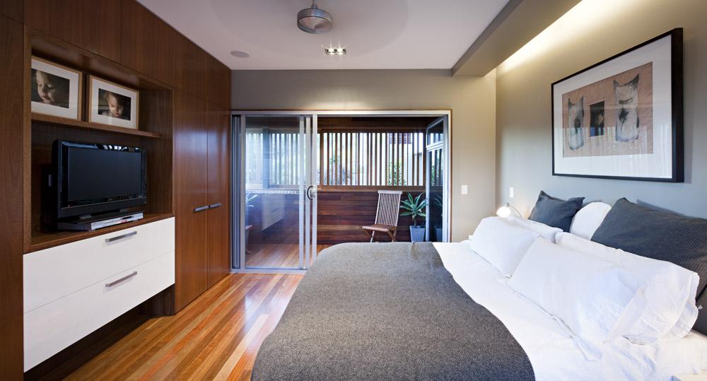 Bedroom, Stonehawke House in Brisbane, Australia