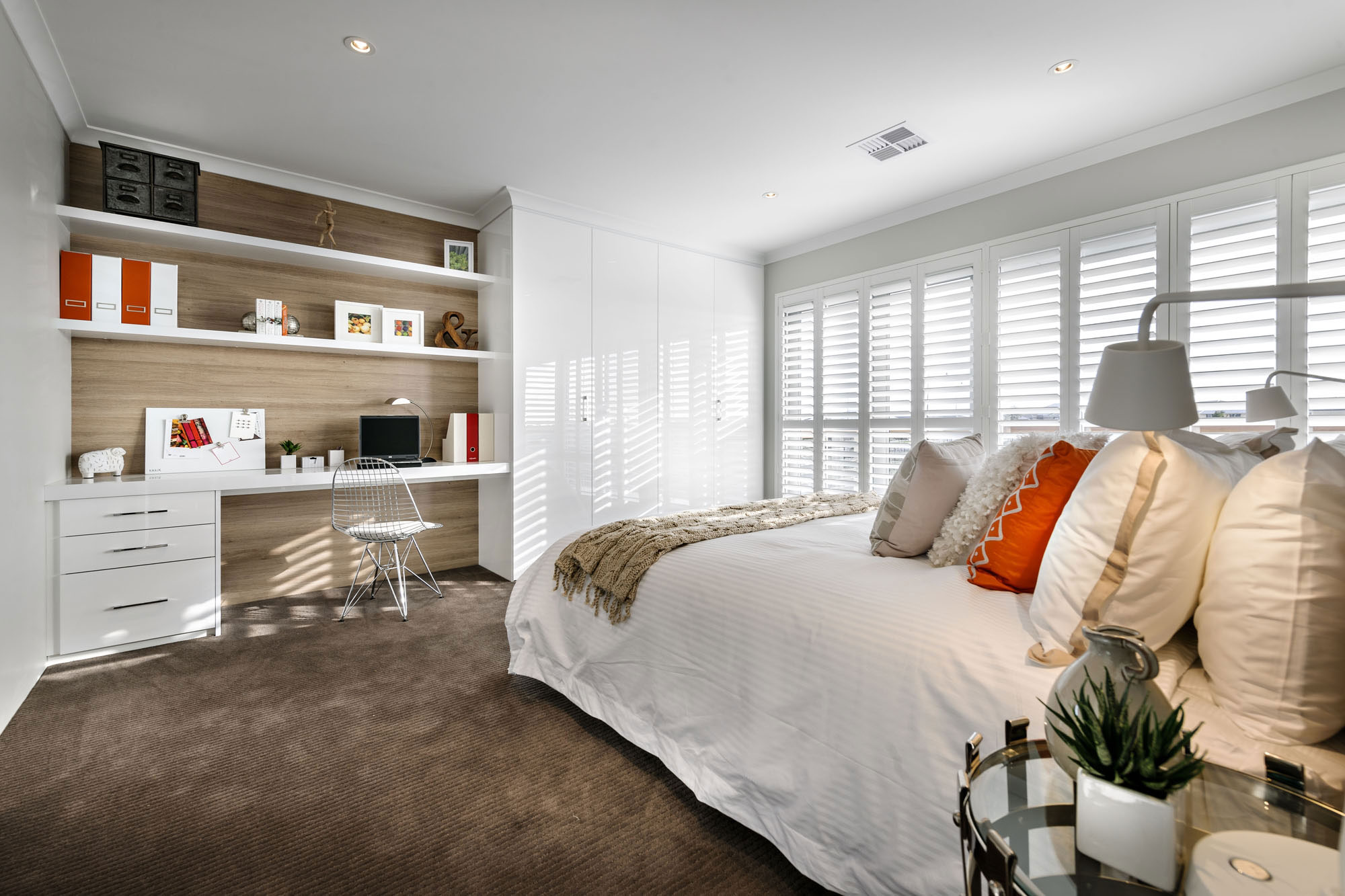 Bedroom, Modern Home in Wandi, Perth