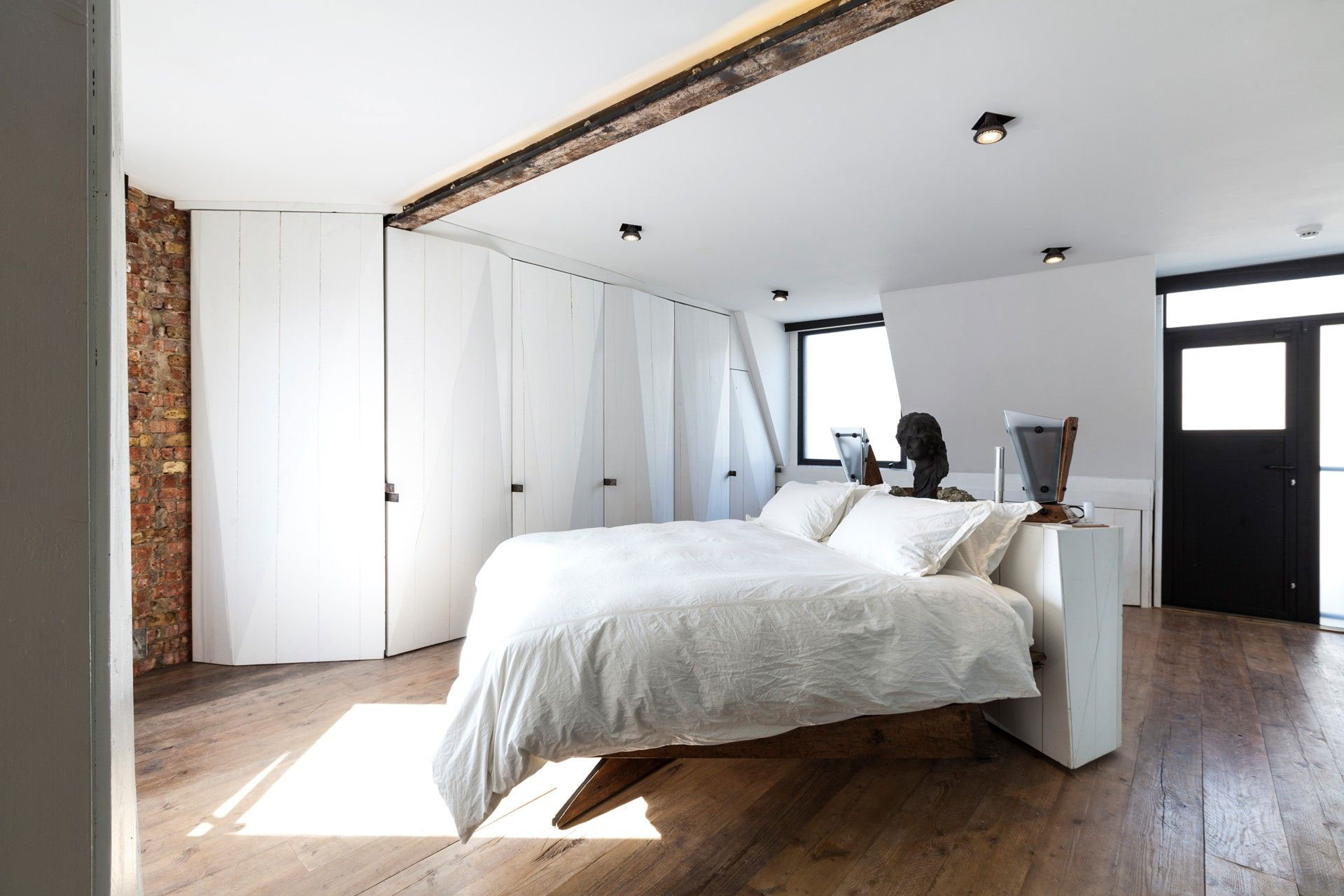 Bedroom, Wood Flooring, Archer Street Apartment in London, England
