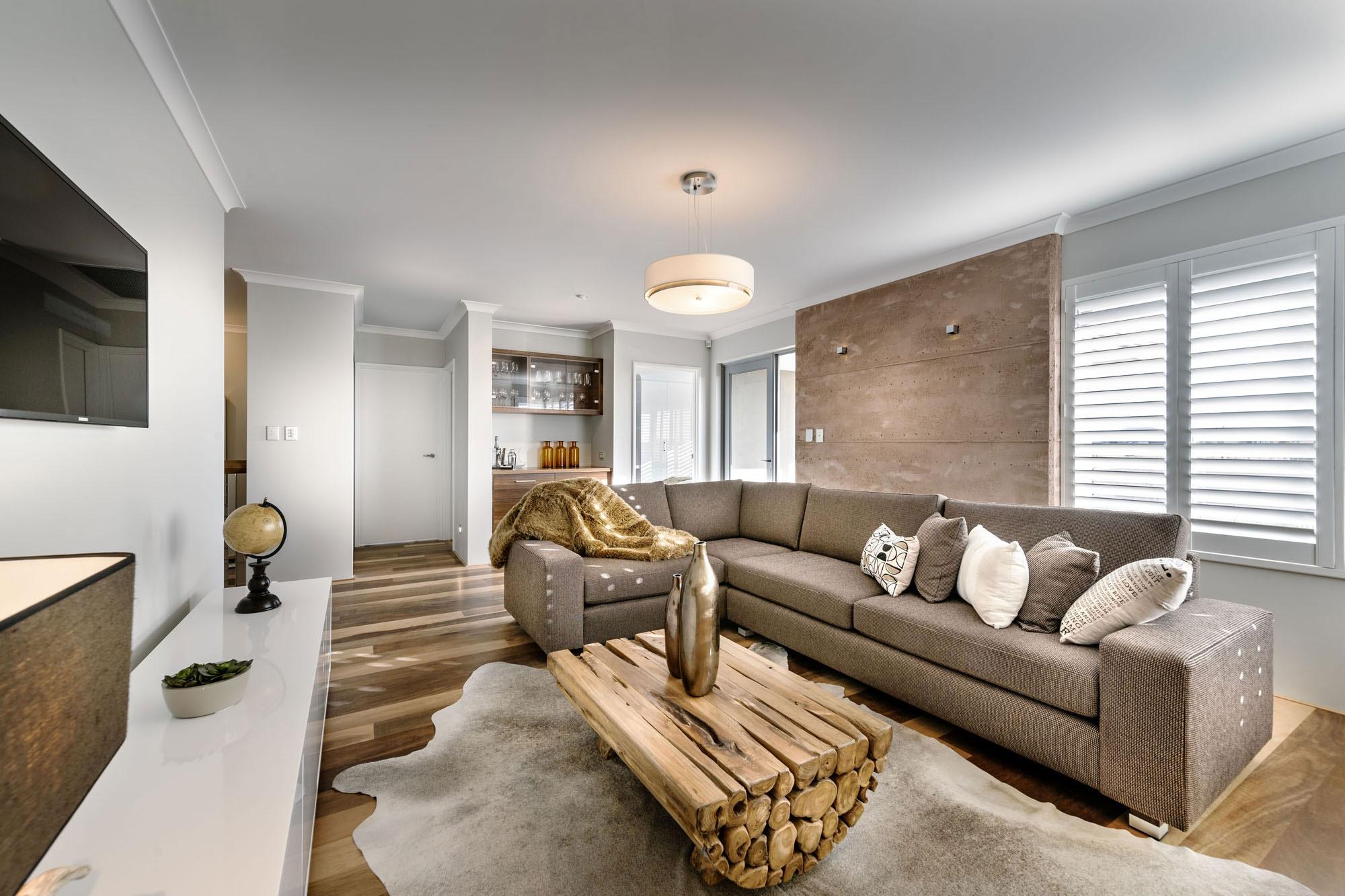 Chunky Wood Coffee Table, Sofa, Rug, Modern Home in Wandi, Perth