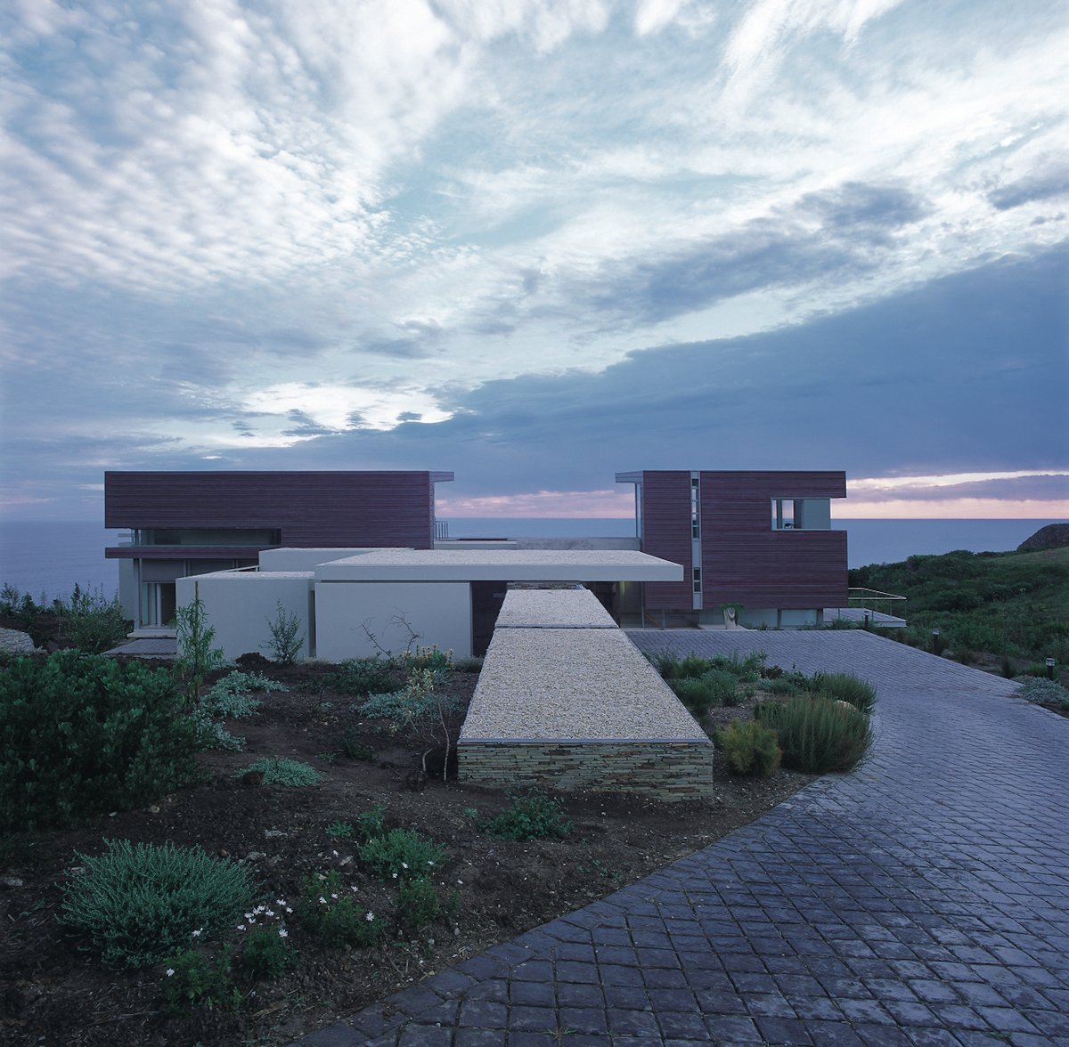 Driveway, Evening, Cliff Top Home in Knyzna, South Africa