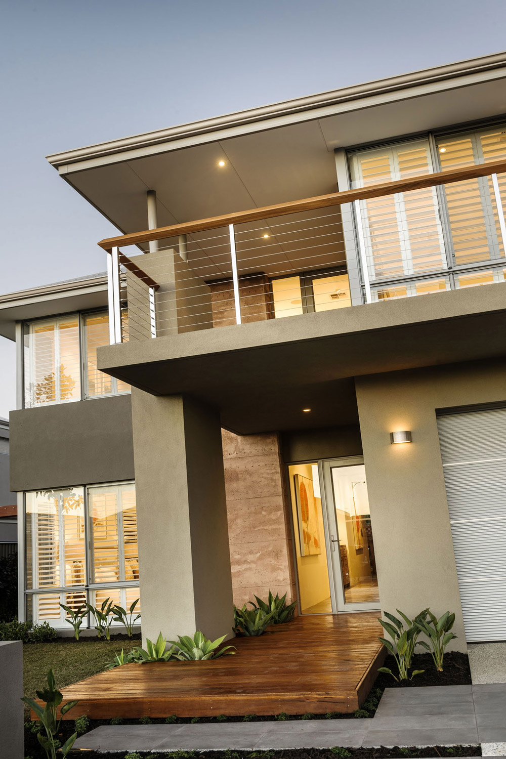 Balcony, Entrance, Stylish Modern Home in Wandi, Perth