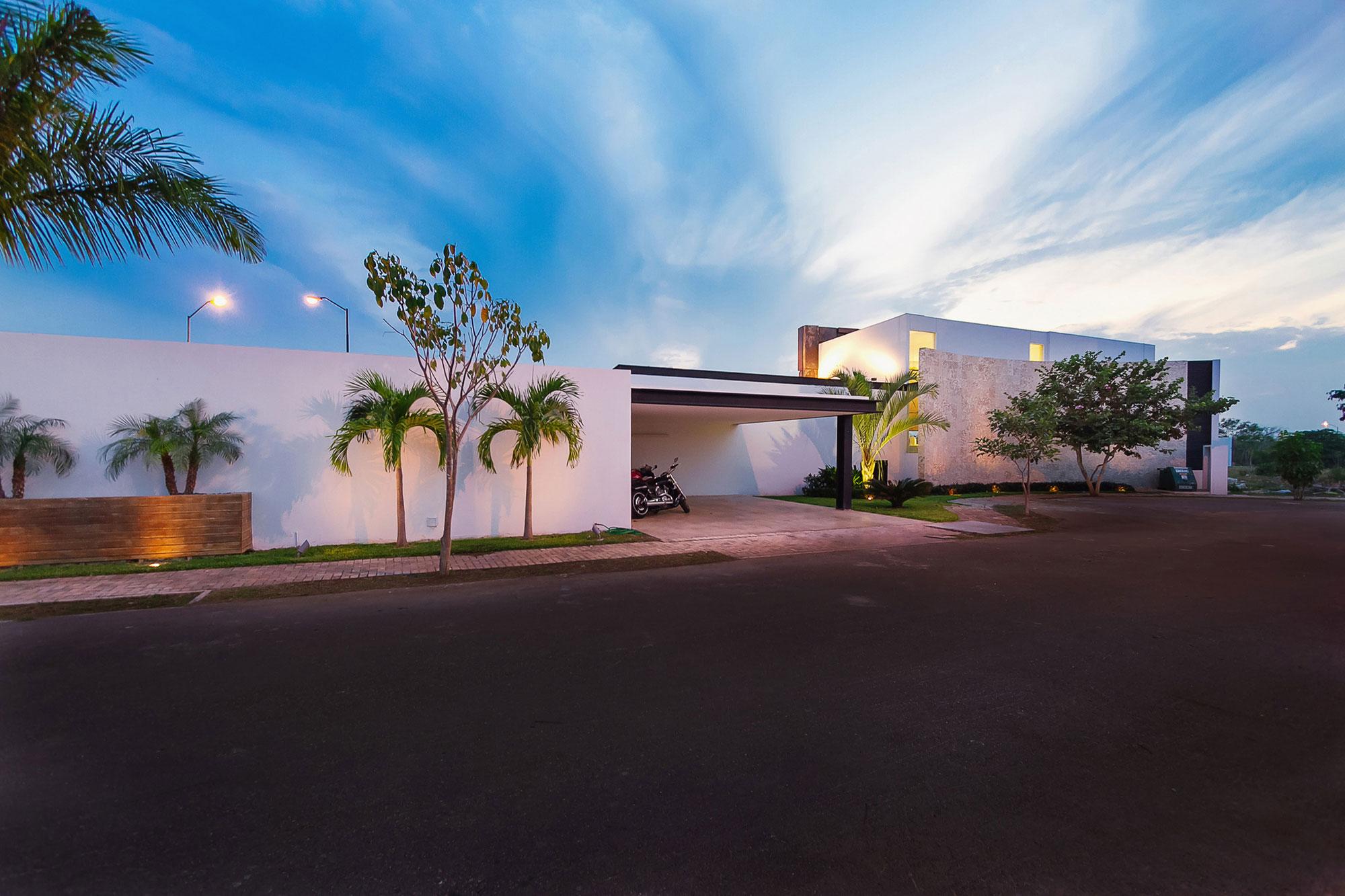 Entrance, Carport, Contemporary Residence in Merida, Yucatan