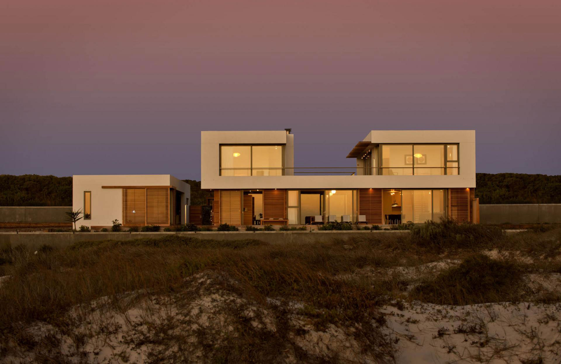 Evening Lighting, Beach Front Home in Cape Town, South Africa