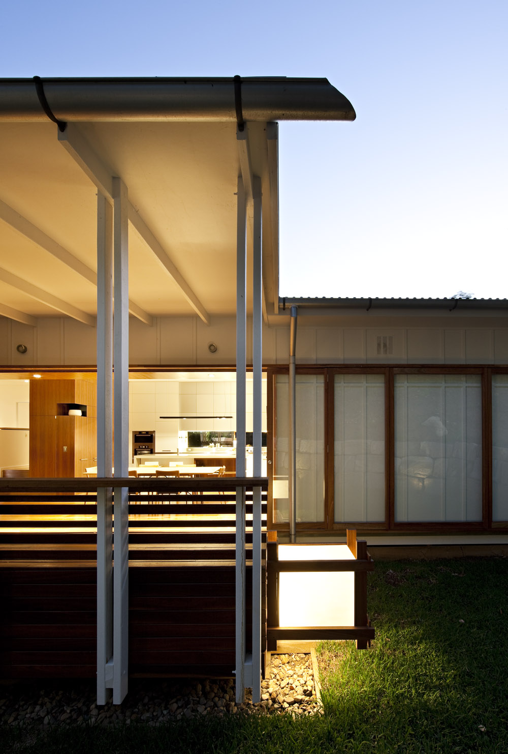 Evening, Lighting, Stonehawke House in Brisbane, Australia