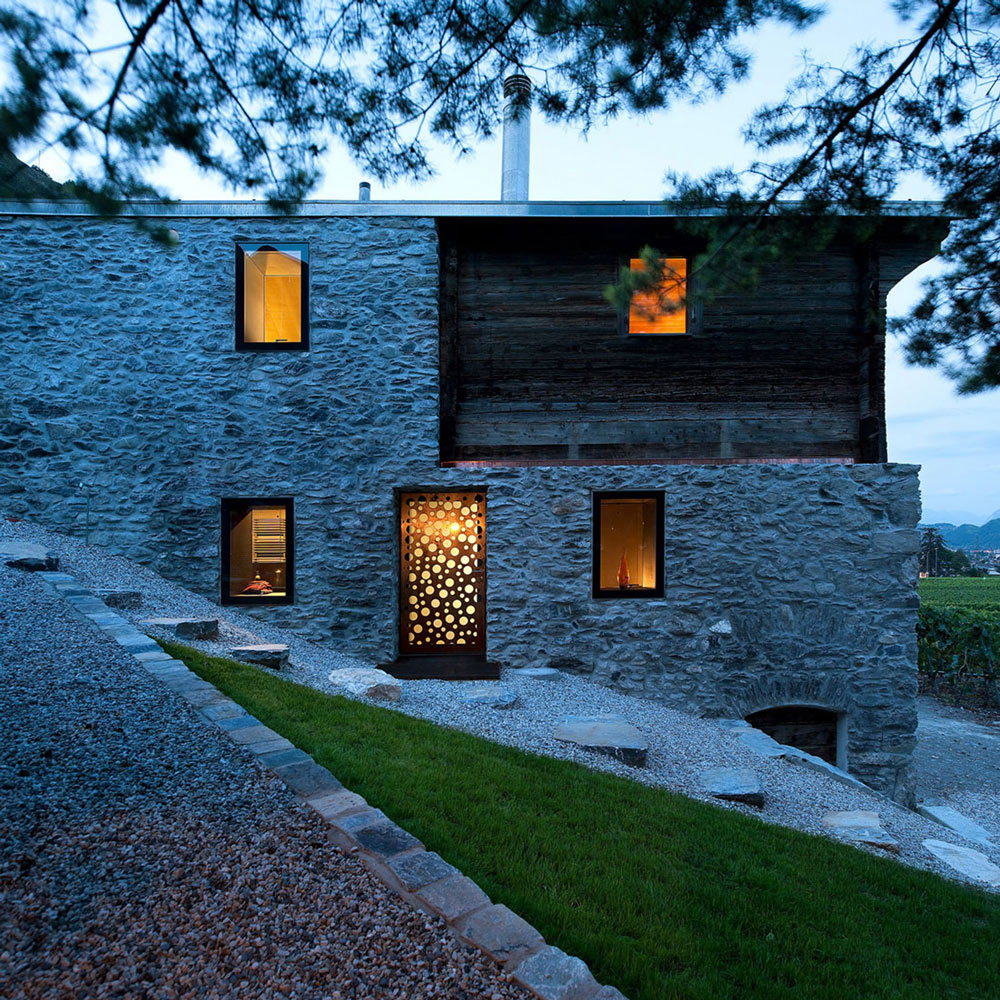 Evening Lighting, Home Remodel in Vétroz, Switzerland