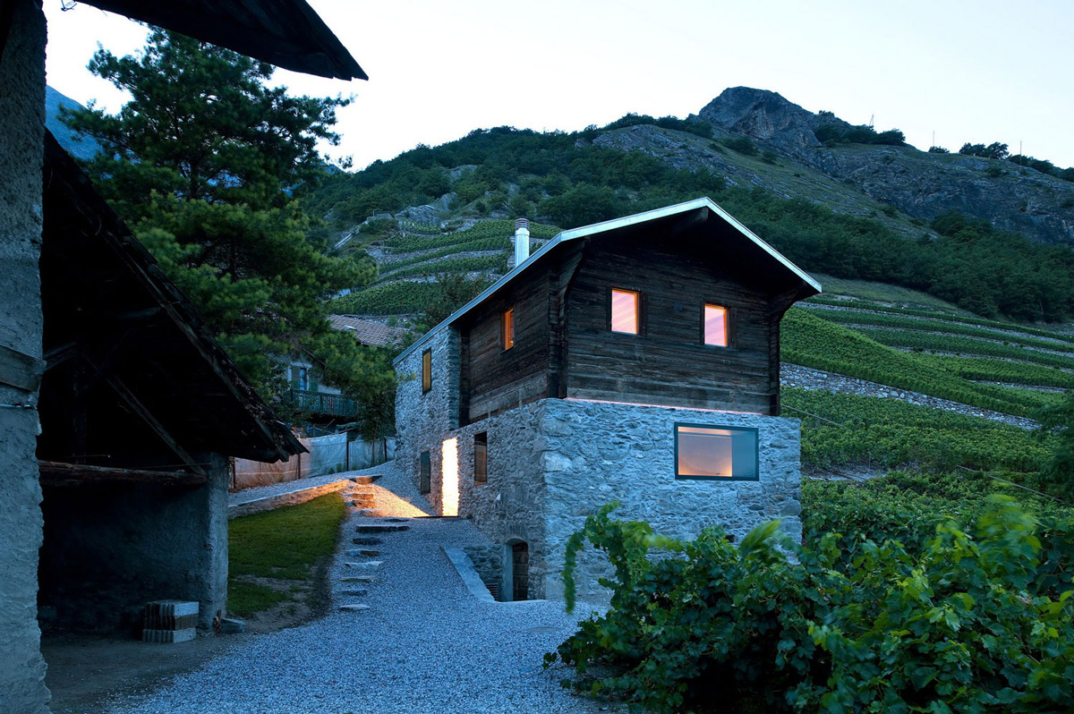 Traditional Wine Growers Home Remodel in Vétroz, Switzerland