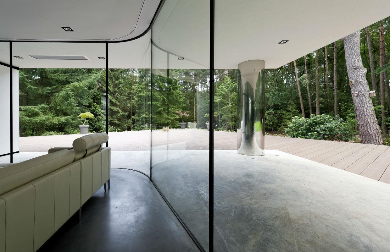Floor-to-Ceiling Windows, Terrace, Modern Villa in Hattem, The Netherlands