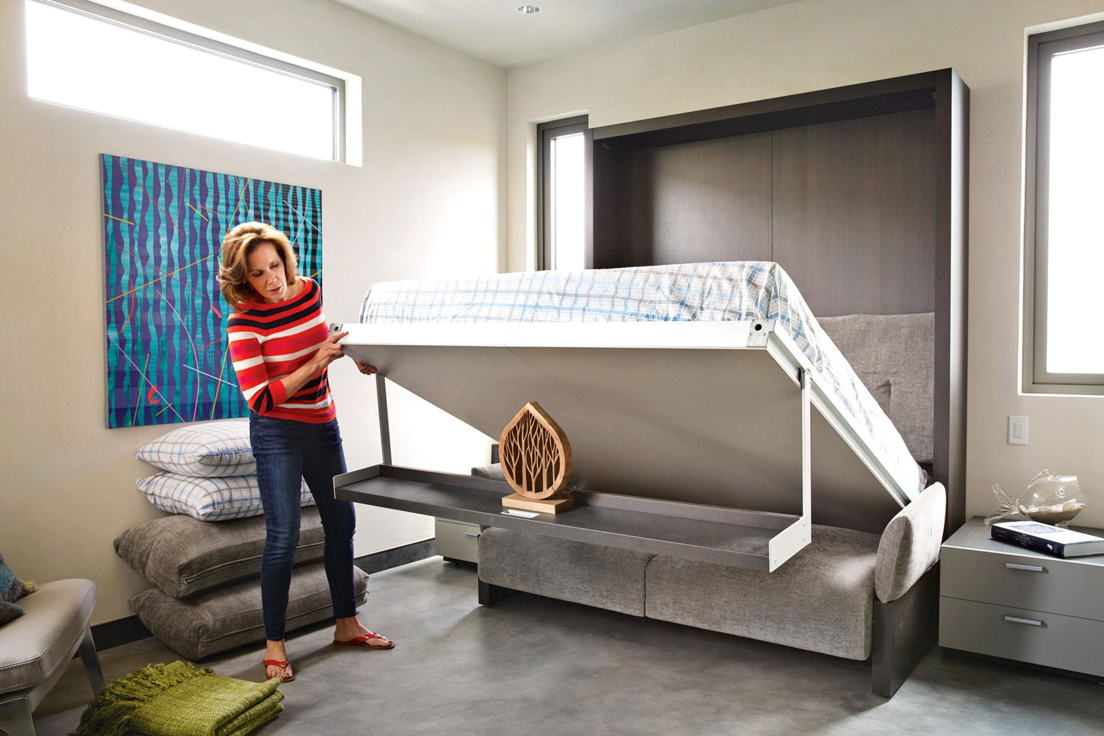 Fold Out Bed, Eco-Friendly Beach House in California