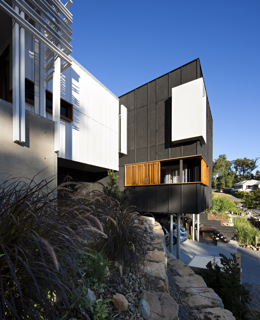 Front Façade, Stonehawke House in Brisbane, Australia