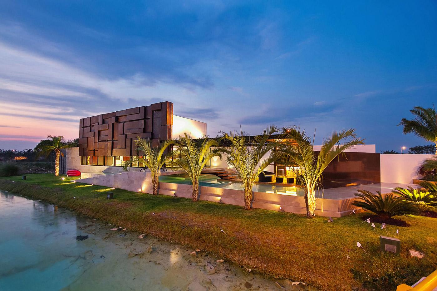 Garden, River, Contemporary Residence in Merida, Yucatan