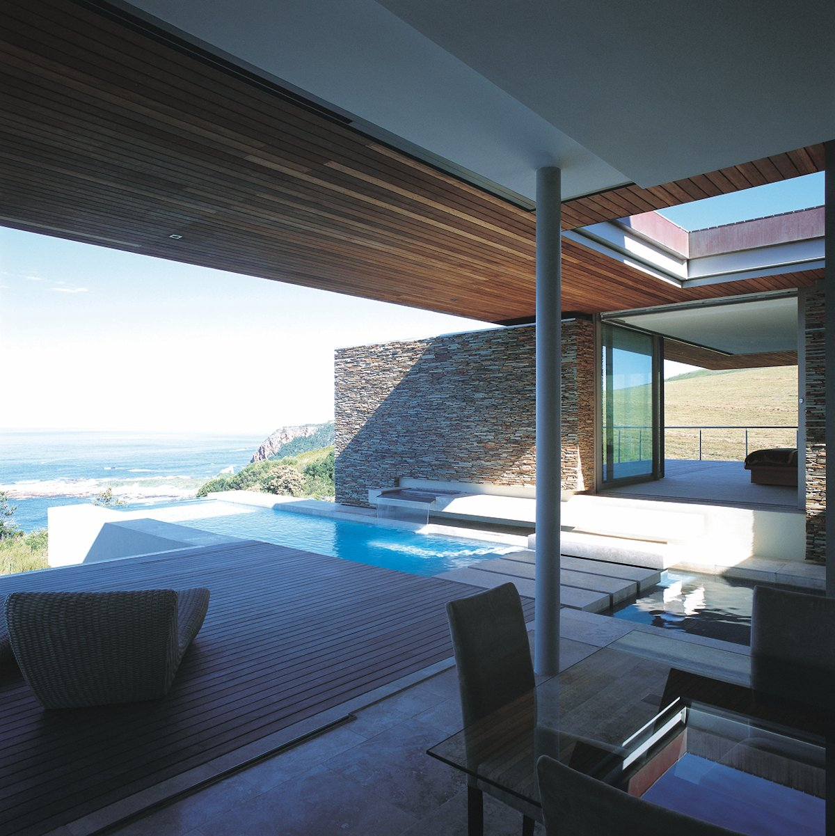 Glass Dining Table, Deck, Pool, Cliff Top Home in Knyzna, South Africa