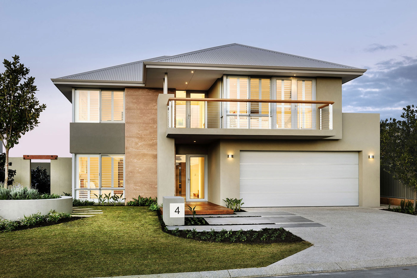 Glass Front Door, Entrance, Stylish Modern Home in Wandi, Perth