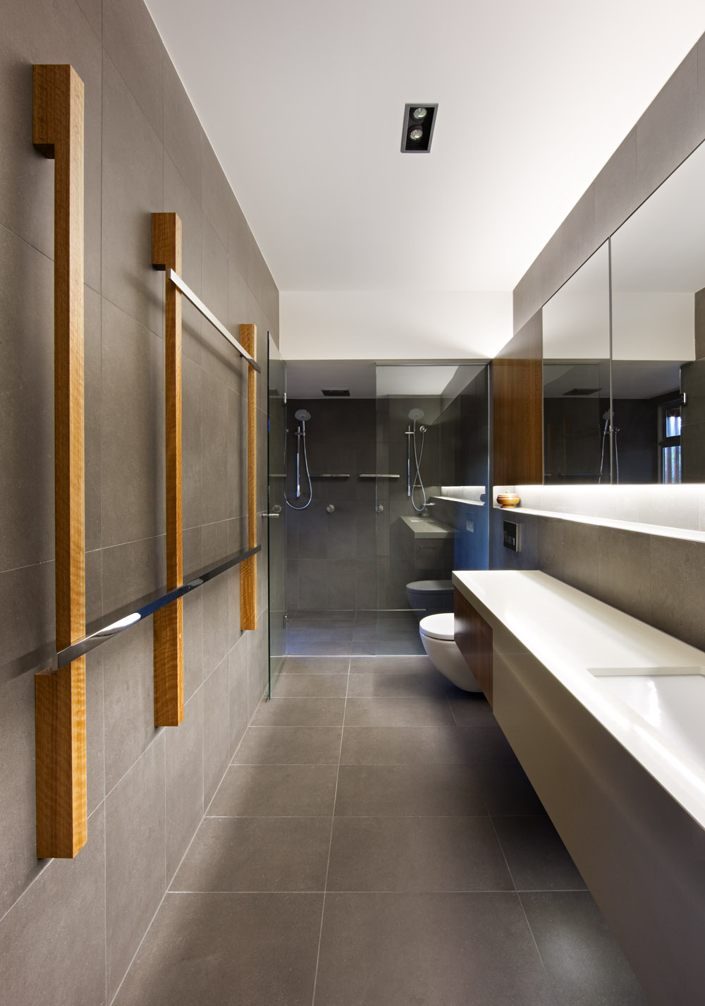 Glass Shower, Bathroom, Stonehawke House in Brisbane, Australia
