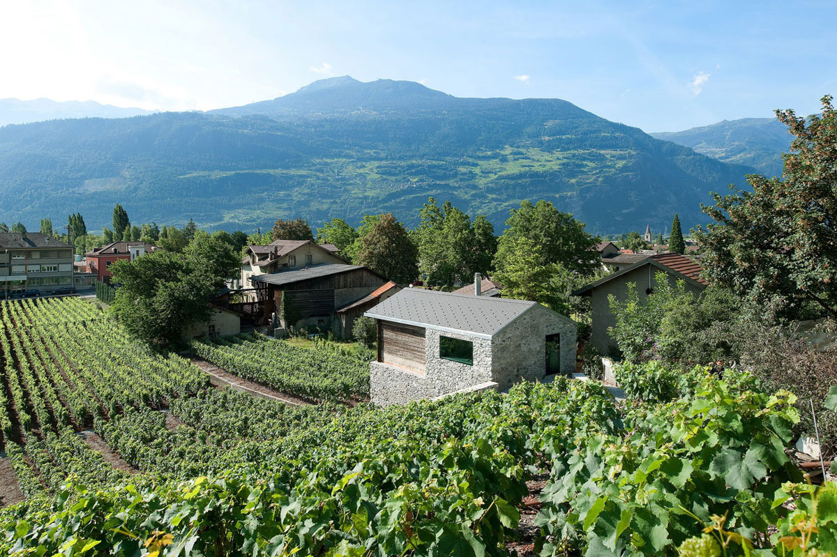 Grape Vines, Mountain Views, Home Remodel in Vétroz, Switzerland