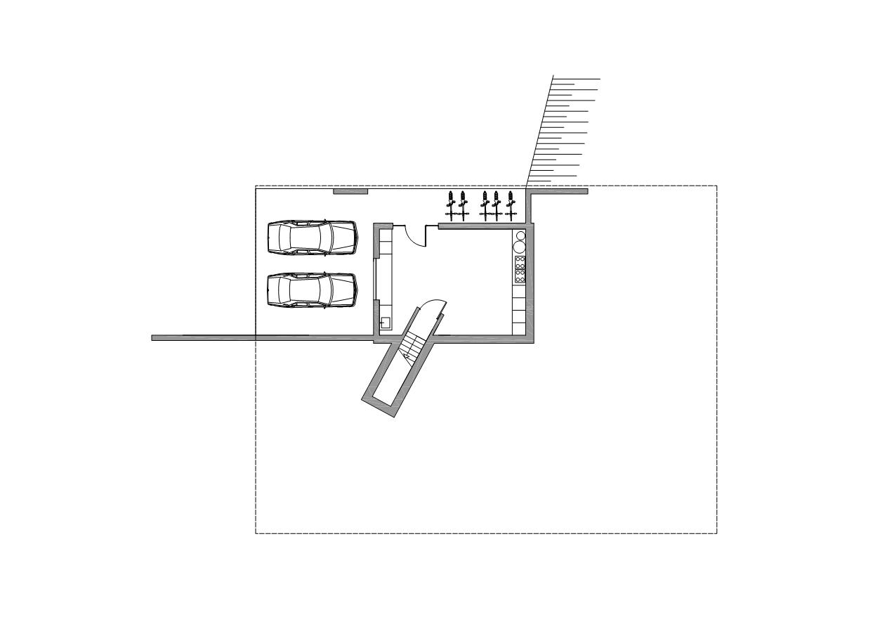 Ground Floor Plan, Modern Villa in Hattem, The Netherlands