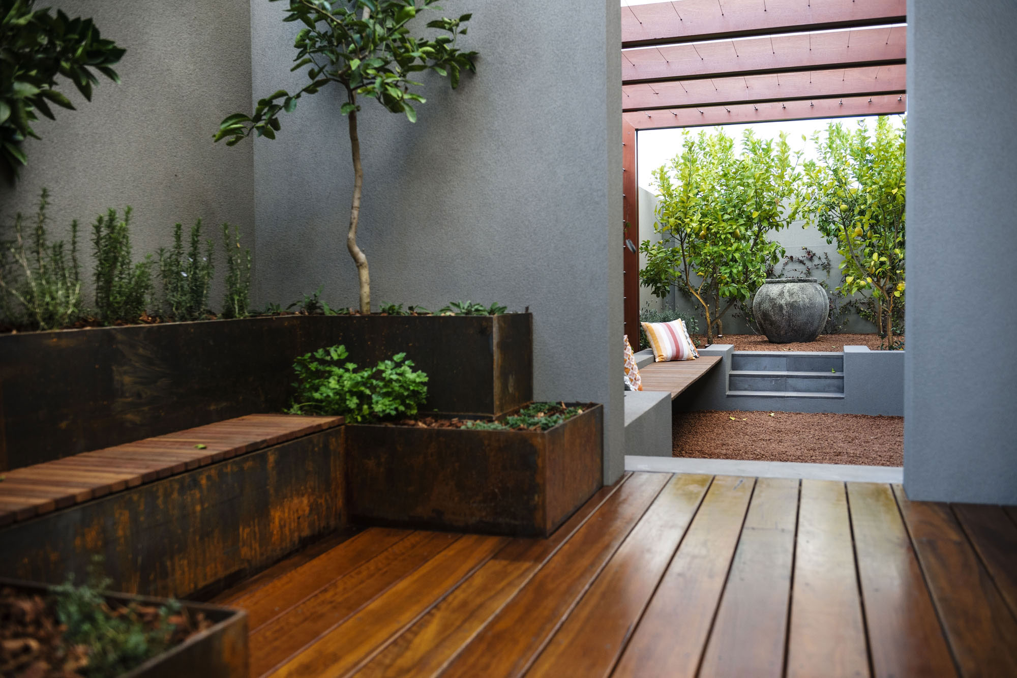 Herb Garden, Courtyard, Modern Home in Wandi, Perth
