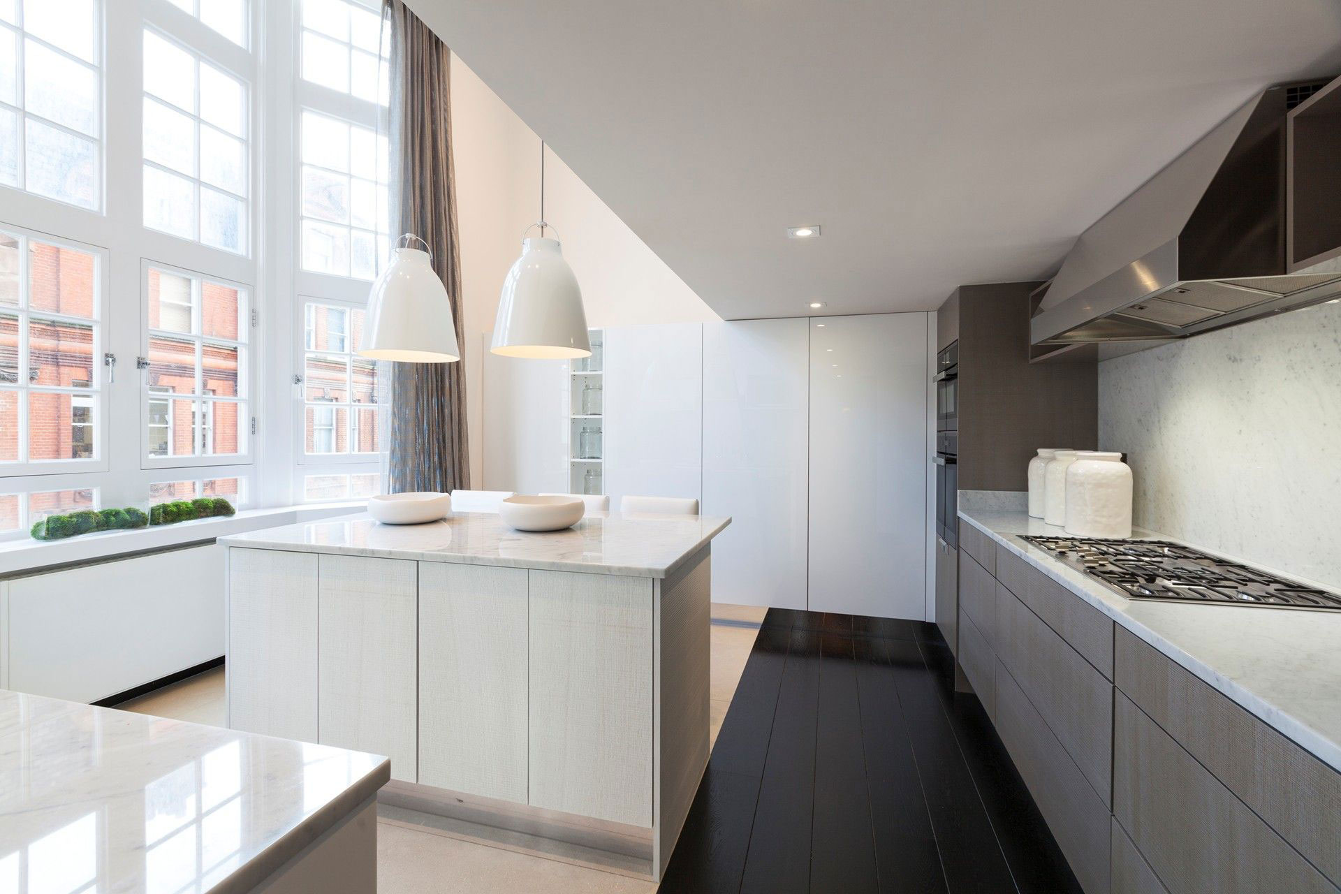 Kitchen Island, Pendant Lighting, Henrietta Street Apartment