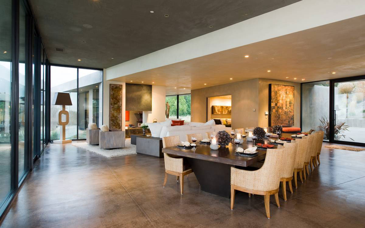 Large Dining Table, Open Plan Living, Home in the Sonoma Valley, California