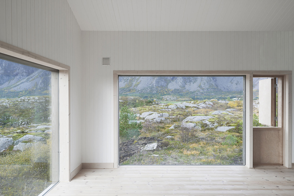 Large Windows, Vega Cottage in Vega, Norway