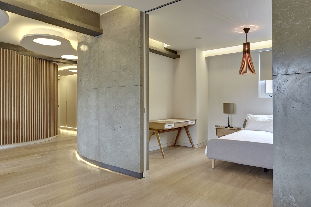 warehouse style lighting. Lighting, Floating Concrete Wall, Warehouse Style Apartment In Shoreditch, London Lighting L
