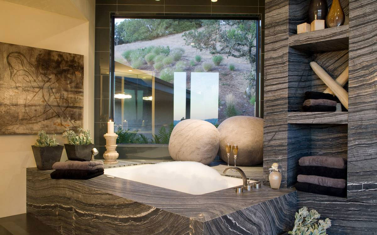 Marble-Bath-Shelves-Bathroom-Home-in-Sonoma-Valley-California