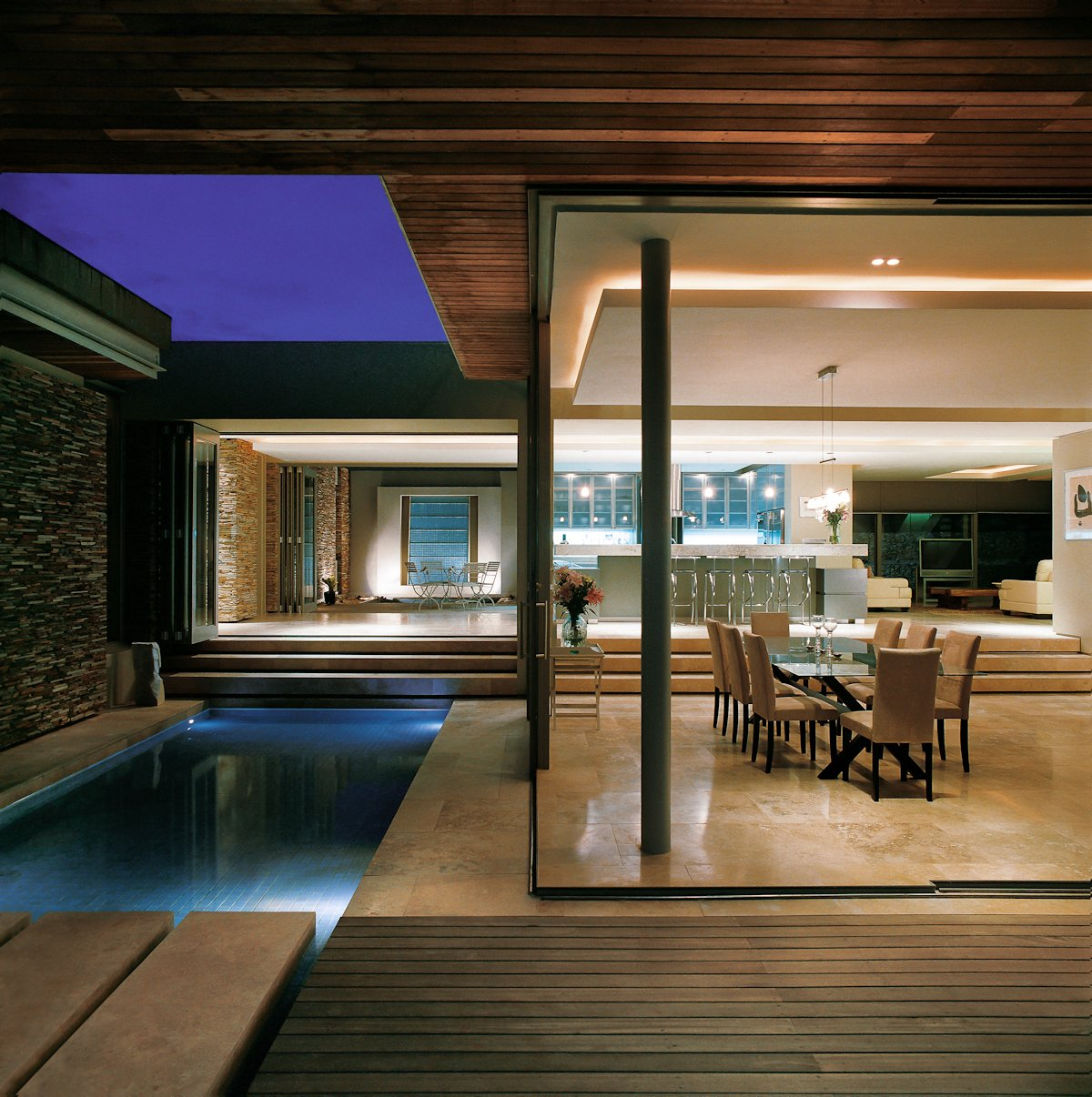 Marble Tiles, Terrace, Cliff Top Home in Knyzna, South Africa