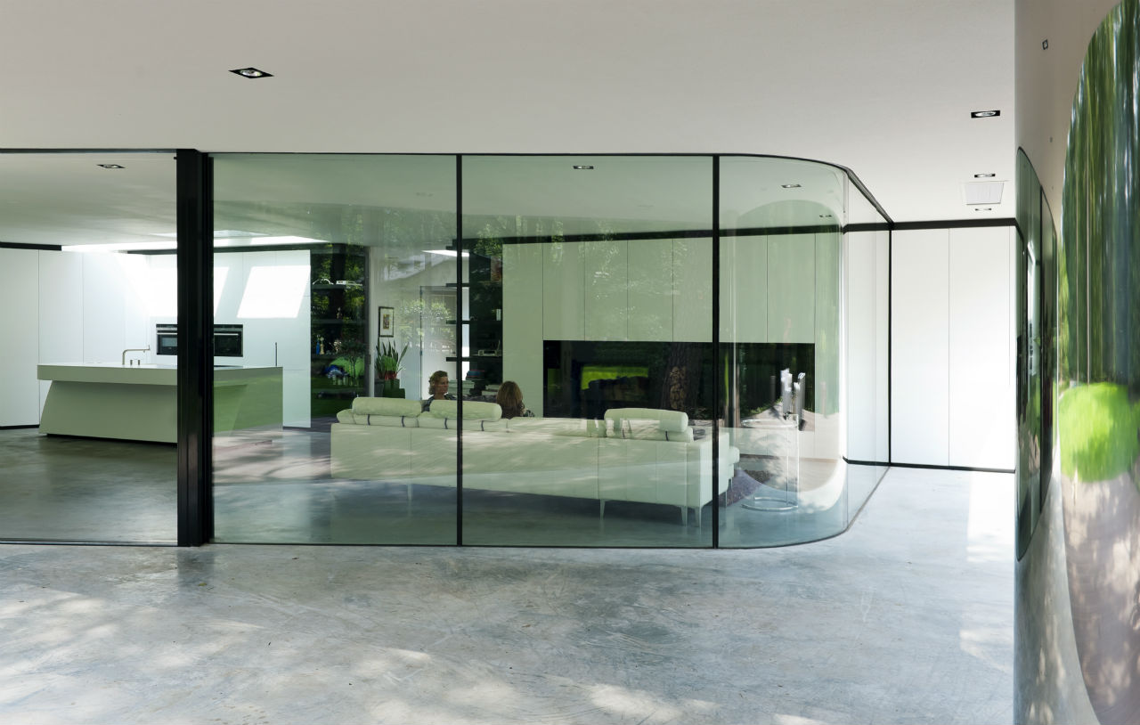 Modern Floor-to-Ceiling Windows, Modern Villa in Hattem, The Netherlands