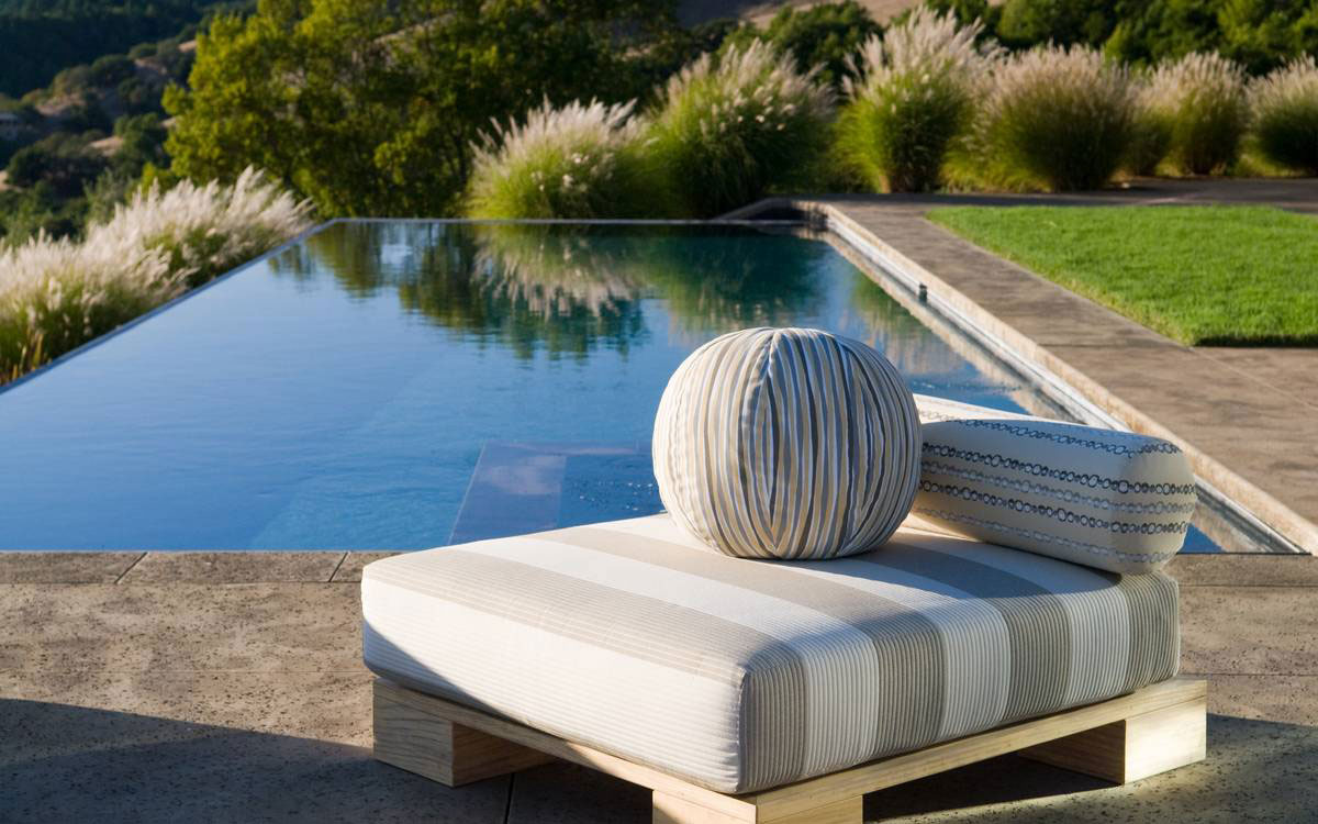 Outdoor Pool, Furniture, Home in the Sonoma Valley, California