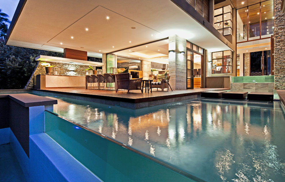 Pool, Glass Wall, Home in Zimbali, South Africa