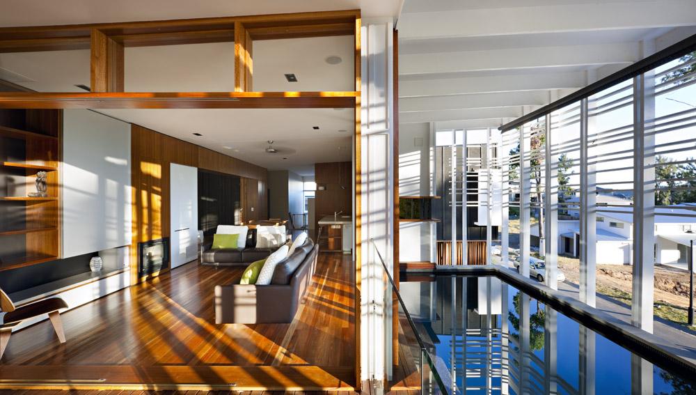 Pool, Living Space, Stonehawke House in Brisbane, Australia