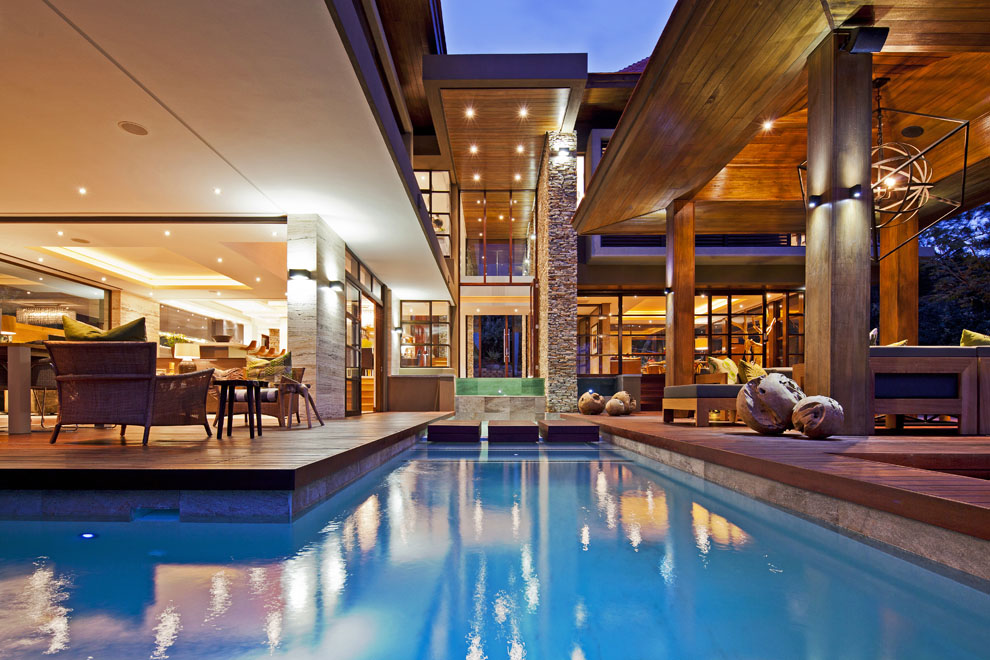 Pool, Terrace, Lighting, Home in Zimbali, South Africa
