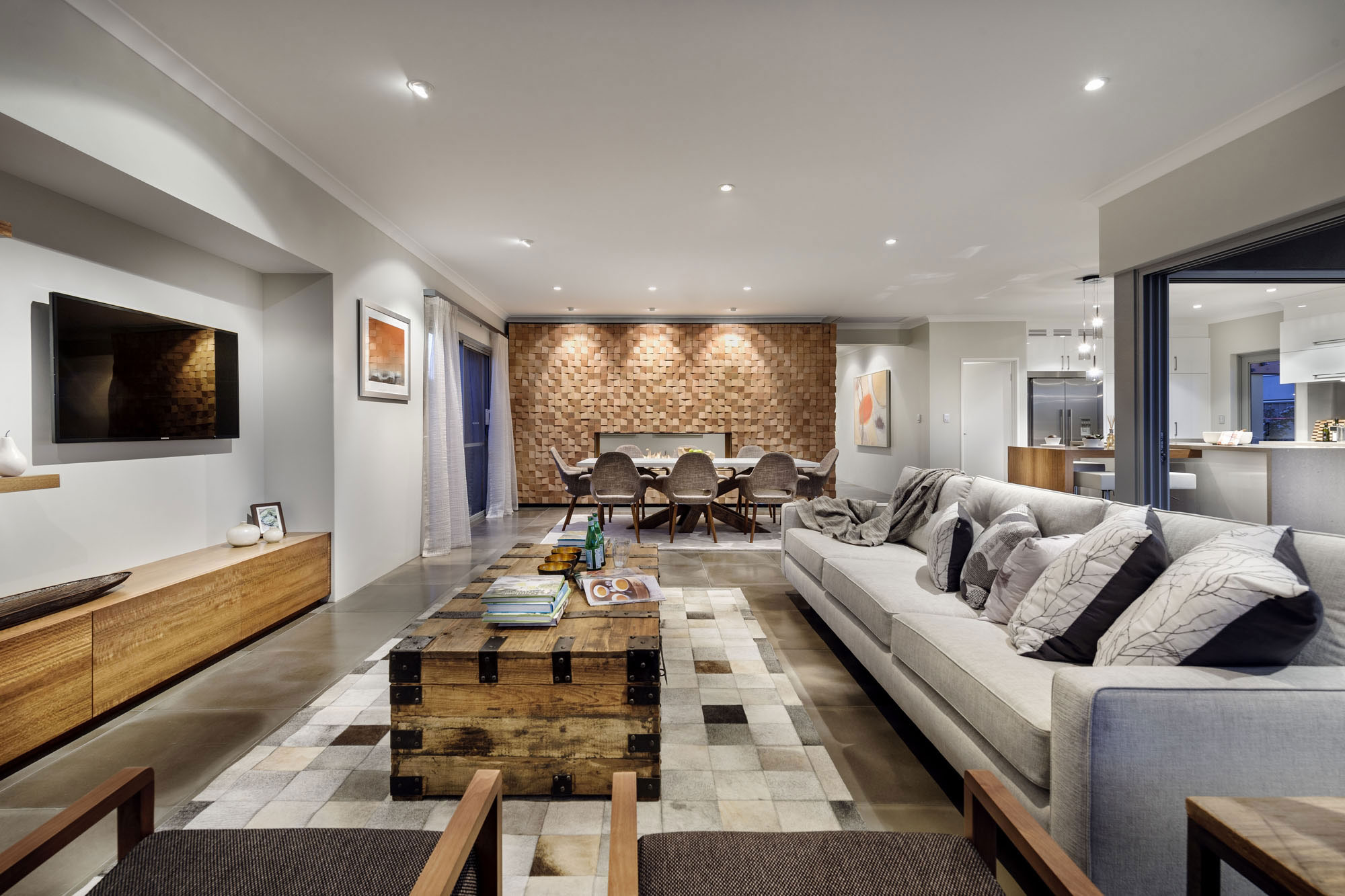 Rug, Rustic Coffee Table, Stylish Modern Home In Wandi, Perth