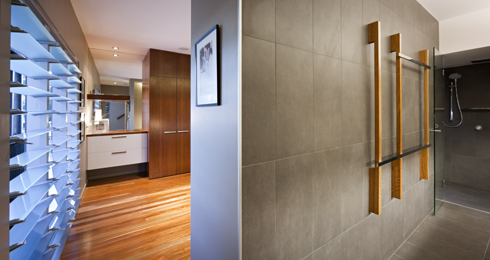 Shower, Bathroom, Stonehawke House in Brisbane, Australia